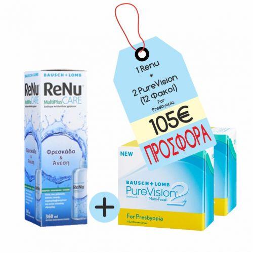 PureVision 2 for Presbiopia x 2 +RENU
