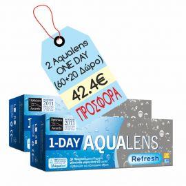 Aqualens Refresh 1 day 30+(10 δώρο) X 2