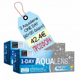 Aqualens Refresh 1 day 30+(10 δώρο) X 2